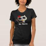 El día del gato lindo muerto camisetas