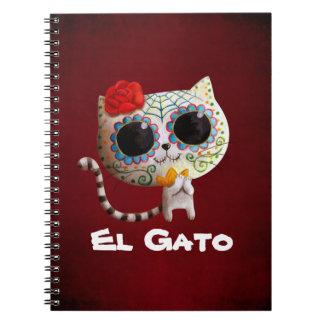 El día del gato lindo muerto cuaderno
