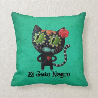 El día del gato negro muerto cojín decorativo