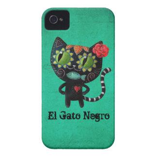 El día del gato negro muerto iPhone 4 funda