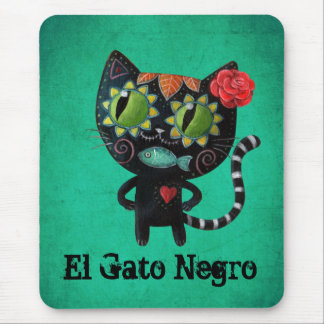 El día del gato negro muerto mousepads