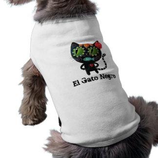 El día del gato negro muerto playera sin mangas para perro
