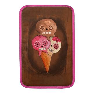 El día del helado muerto de los cráneos del azúcar fundas macbook air