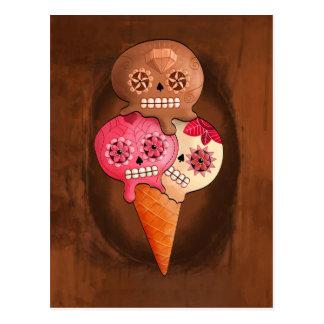 El día del helado muerto de los cráneos del azúcar tarjetas postales