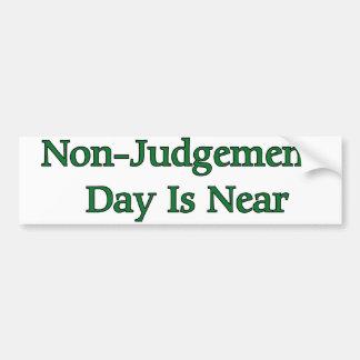 El día del No-Juicio está cerca Pegatina Para Auto