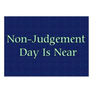 El día del No-Juicio está cerca Tarjetas De Visita Grandes