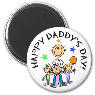 El día del papá feliz imán redondo 5 cm