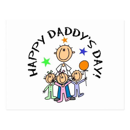 El día del papá feliz postal