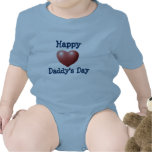 El día del papá feliz trajes de bebé