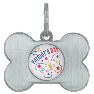 El día del patriota placas mascota