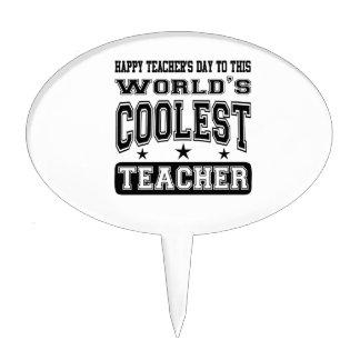 El día del profesor feliz al profesor más fresco d decoración de tarta