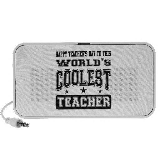 El día del profesor feliz al profesor más fresco d iPhone altavoz
