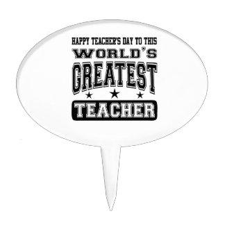 El día del profesor feliz al profesor más grande d figuras de tarta