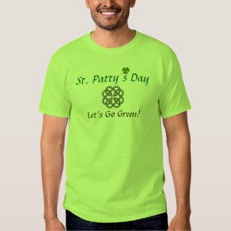 ¡El día del St. Patty nos dejó ir verde! Playera