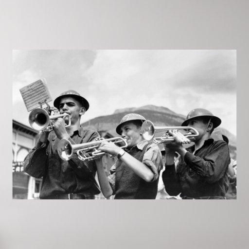 El Día del Trabajo Band, 1940 de los mineros Póster