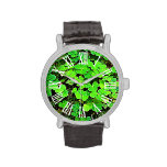 El día del trébol de St Patrick personalizado Relojes