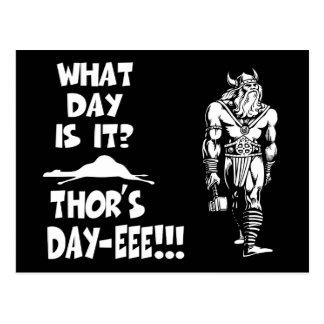 ¡El Día-eee del Thor!!! Tarjetas Postales