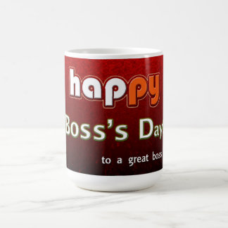 ¡El día feliz de Boss a gran Boss! Taza