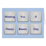 El día feliz de Boss con el teclado y el texto del Felicitaciones