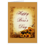 El día feliz de Boss para el jefe con los girasole Felicitaciones