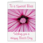 El día feliz de Boss para el jefe femenino con la  Felicitaciones