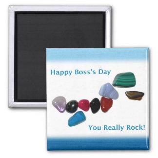 El día feliz de Boss su realmente roca Imán Cuadrado
