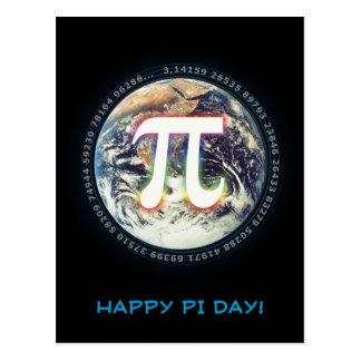 El día feliz el | del pi celebra tarjeta postal