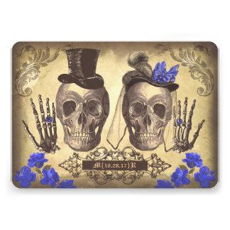 El día gótico de los pares del cráneo del boda mue