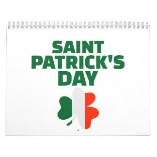 El día Irlanda de San Patricio Calendario