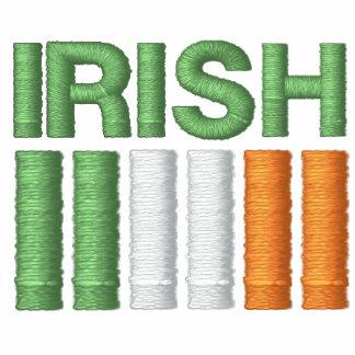 El día Irlanda de St Patrick señala la camiseta Chamarra De Deporte Bordada