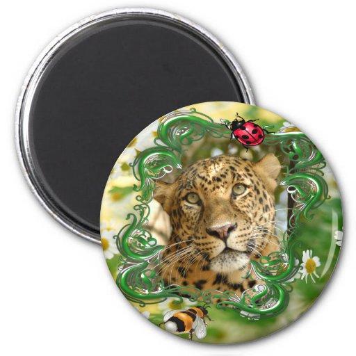 El Día-Leopardo de St Patrick Imán De Frigorífico