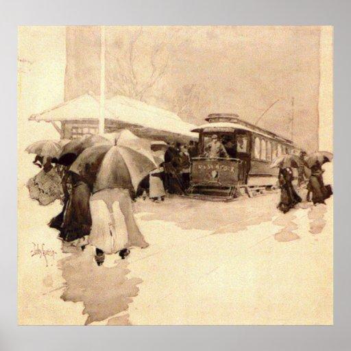 El día lluvioso conmuta 1906 impresiones