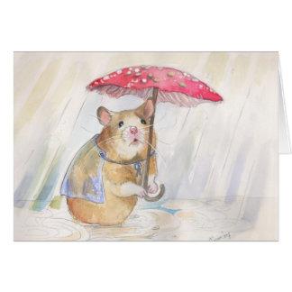 ¡El día lluvioso sale!   por Christina Siravo Tarjeta De Felicitación