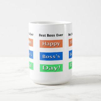 El día mejor Boss de Boss nunca Taza De Café