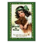 El día Notecard de San Patricio del vintage Tarjeton