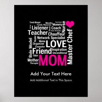 El día o el cumpleaños de madre para una mamá póster