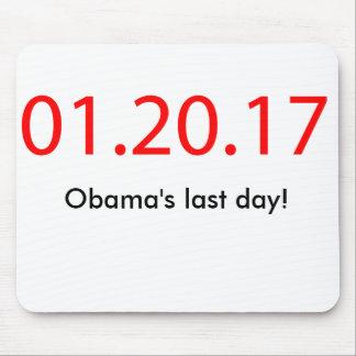 El día pasado de Obama Alfombrillas De Ratón