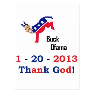 El día pasado de Obama Tarjeta Postal