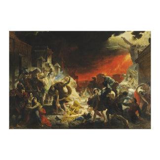 El día pasado de Pompeya de Karl Briullov Vesuvio Impresión En Lienzo