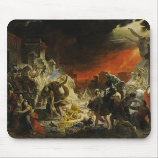 El día pasado de Pompeya de Karl Briullov Vesuvio Alfombrilla De Ratones