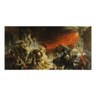 El día pasado de Pompeya de Karl Briullov Vesuvio Tarjetas Fotográficas