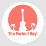El día perfecto pegatina redonda