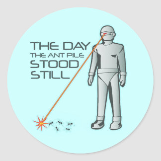 El día que la pila de la hormiga todavía se pegatina redonda