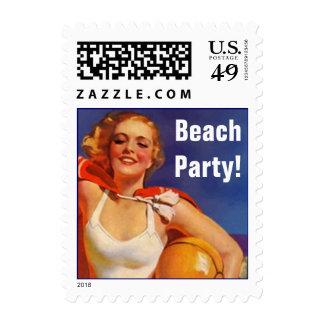 ¡El día retro en la playa anuncia a su fiesta Sel