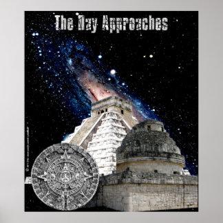 El día se acerca al poster maya del calendario