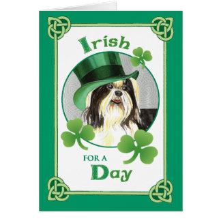 El día Shih Tzu de St Patrick Felicitacion