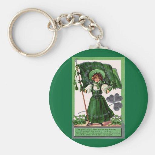 El día verde de San Patricio del vintage Llaveros