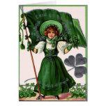 El día verde de San Patricio del vintage Tarjeta