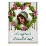 El día verde de San Patricio del vintage Tarjetón