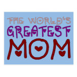 El día y el cumpleaños de madre más grande de la postal